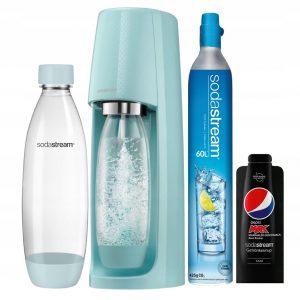 saturator-sodastream-soda-stream-butelki-szklane-maszyna-urządzenie-do-gazowania-gazowane-napoje-easy-spirit-icyblue-icy-blue