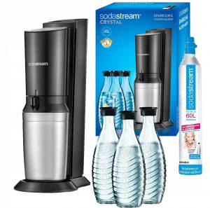 saturator-sodastream-soda-stream-butelki-szklane-maszyna-urządzenie-do-gazowania-gazowane-napoje-crystal